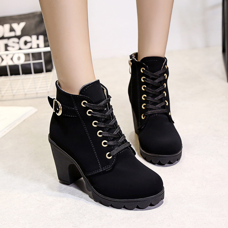 Sexy Design Fashion Women Boots High Heel Martin Ankle Boots Female Shoes Pumps Platform Boots Ladies Botas Mujer<br><br>Aliexpress