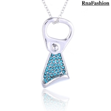 Wholesale Fashion Accesories Lucky Pendant Necklace Korean Drama Austria Crystal SWA Element available in 5 colors