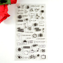 Coolhoo 1pc TPR silicon clear Stamp small signs DIY Scrapbooking/Card Making/ Decoration Supplies(China)