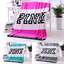 Hot sale Rectangle Pink VS Secret Flannel Blanket Adjust To Adult/Child use Sofa/travel Blanket best chrismas gift(China)