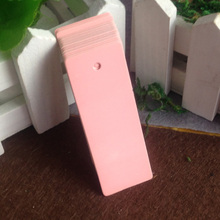 Wholesale 2.5*7cm Pink Wedding Favour Tag Garment Tag Custom Name/Jewelry/price Tags Cost Extra MOQ : 1000 pcs