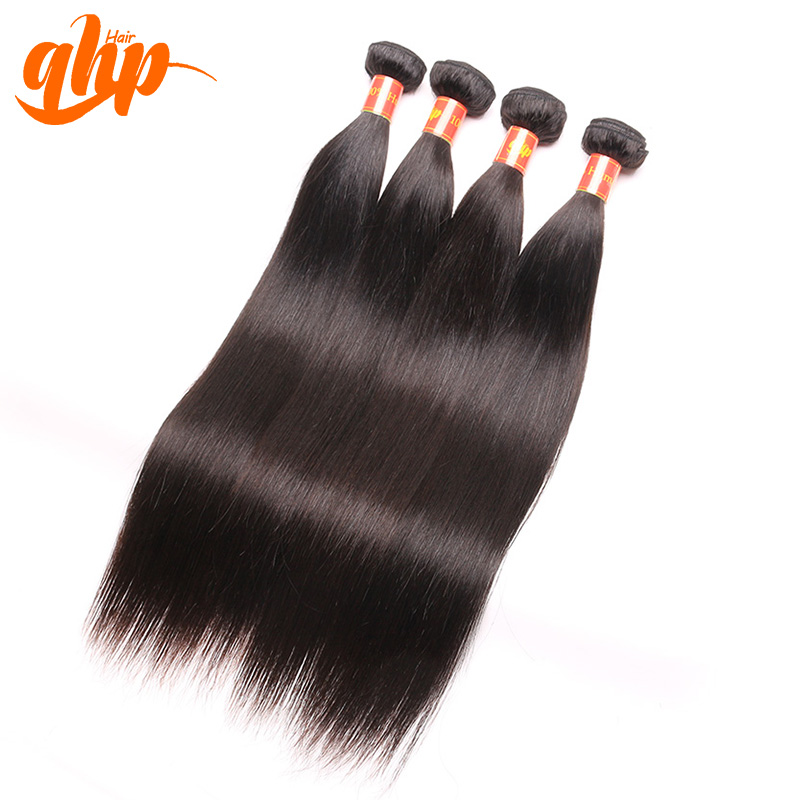 qhp Hair Products 7A Unprocessed Peruvian Straight Hair Weave Bundle 4pcs Bundle Deal 100% Human Hair Extension Free Shipping<br><br>Aliexpress