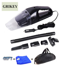 Car Vacuum Cleaner 120W Portable Handheld Vacuum Cleaner Wet and Dry Dual Use Car Vacuum Aspirateur Voiture 12V(China)