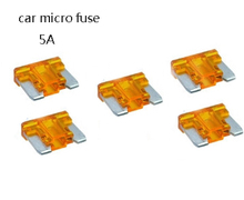 5pcs micro Mini Assorted Set Kit ATO ATC ATM Blade Fuse Car Auto Truck Motorcycle Caravan Boat 5A