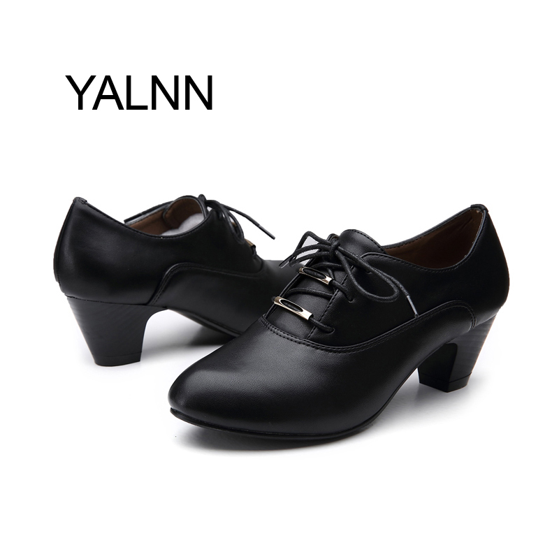 Women Leather High heel Shoes for Women Spring/Autumn Office Lady Mature High heeles Shoes Pumps for Girls<br><br>Aliexpress