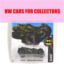 2017 New Hot Wheels 1:64 Green Batman Series Arkham Knight Batmobile Models Metal Diecast Cars Collection Kids Toys Vehicle(China)