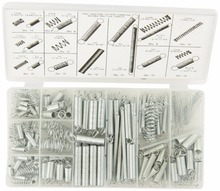200 Pieces 20 Sizes Mix Springs Steel Extended and Compressed Spring Shop Assortment Kit Set in Plastic Case