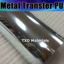 50X100CM/LOT Silver Metal transfer pu vinyl, transfer metallic pu film for shirts ,heat transfer metal pu for shirts