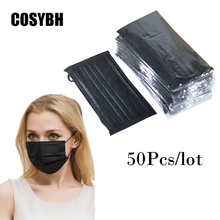 50Pcs/lot New Four Colors 4-Layer Nonwovens Activated Carbon Separate Packaging Disposable Masks COSYBH(China)