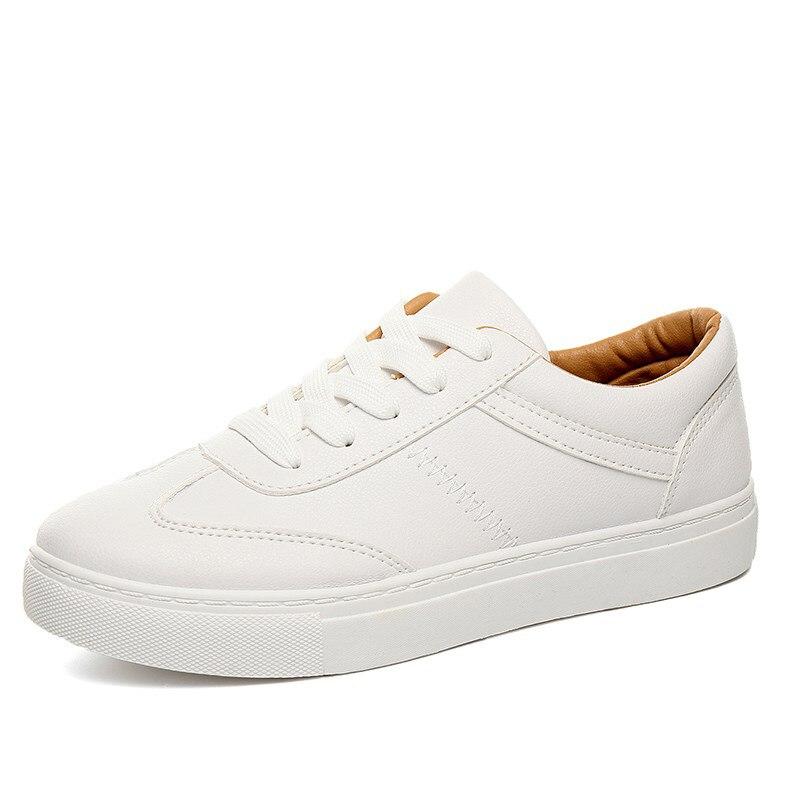 South Korean Spring &amp; summer joker P U white shoe female soft bottom shoes Korean single shoes lace-up casual shoes<br><br>Aliexpress