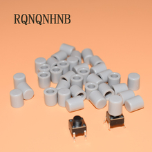 100pcs/lot Gray Plastic Cap Hat for 6*6mm G61 Tactile Push Button Switch Lid Cover Free Shipping