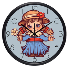 Girl Children Room Silent Wall Clock Retro doll European Styles No Sound