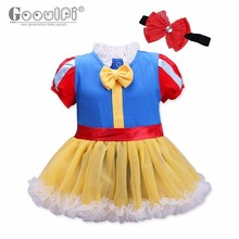Gooulfi Baby Girl Rompers Dress 0-18 Months Halloween Costume Toddler Dress Cotton Bow Lace O Neck Baby Girls Costume Tutu(China)