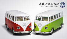 5pcs/lot Wholesale UNI 1/36 Scale Germany VOLKSWAGEN T1 TRANSPORT Bus Diecast Metal Pull Back Car Model Toy New In Box