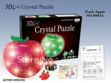 DIY TOY 3D Crystal Puzzle (apple) Educational toy,Wholesale and Retail