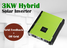 3000w Hybrid solar inverter grid tied solar inverter + off grid solar inverter  500vdc PV input solar power 4500w