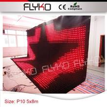 full hd projector led wall PC controller P100mm disco lights show on curtain screen