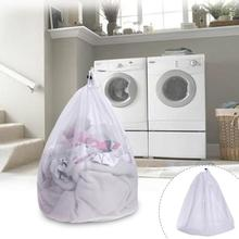 White Laundry Bra Fine Structure Mesh Bag Laundry Storage Bags Clothes Washing Machine Size S L