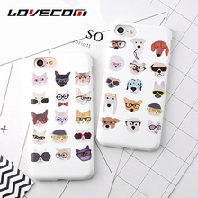 Buy LOVECOM iPhone X 8 7 6 6S Plus Full Body Phone Case Cute Animal Cartoon Dog Cat Soft Matte Protective TPU Cover Cases Coque for $1.98 in AliExpress store