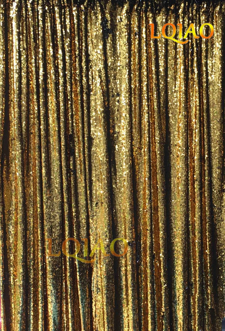 gold reversible sequin fabric-4x6ft-005
