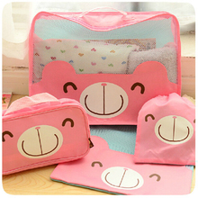 Korea Teddy Bear Travel Kit travel wash bag cosmetic pouch essential Bear waterproof toiletry kits