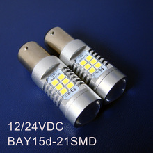 High quality 10W 12/24VDC Truck Freight Car BAY15d Brake Light 1157 PY21W/5W P21W/5W BAZ15d Led Bulb Lamp free shipping 5pcs/lot