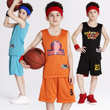 Reversible Boy's Basketball Jersey Shirt and Shorts Sets Sport Team Training Uniform Clothing Custom Name and Number (10 Colors)