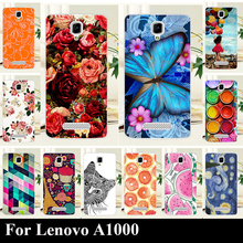 Case For Lenovo A1000 A 1000 Colorful Printing Drawing Transparent Plastic Mobile Phone Cover For Lenovo A1000 Hard Phone Cases