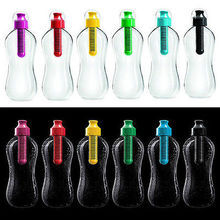 7COLORS Free Shipping Water Bobble Hydration Filter Bottle Outdoor Gym Filtered Drinking 550ML