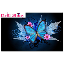 3D Full drill square diamond Painting butterfly Cross Stitch cross stitch 5d DIY diamond christmas decorations home animal(China)