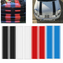 Pair Hood Racing Rally Stripes Auto Graphic decal Vinyl car truck universal(China)