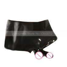 Buy Male Latex Sexy Rubber Shorts Penis Condom Rubber Latex Underpants Knickers S-LPM093