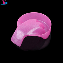 1 Pcs Hand Wash Remover Soak Bowl Manicure Off Bowls DIY Nail Art Equipment Nail Tools Pink Glitter Nail Spa Bath Treatment Tool