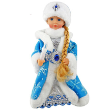 Christmas Gifts Toys music electric Santa Claus Snow Girl doll 30cm Doll decoration music flashing dancing Toy