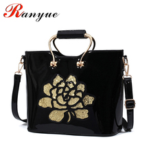 New Autumn Winter Bag Women Patent Leather Totes Bag Crossbody Bags For Women Messenger Bags Ladies Large Handbags 2016 Bolso