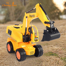 4CH RC hydraulic excavator remote control toys rc tractor truck brinquedos carros A090(China)