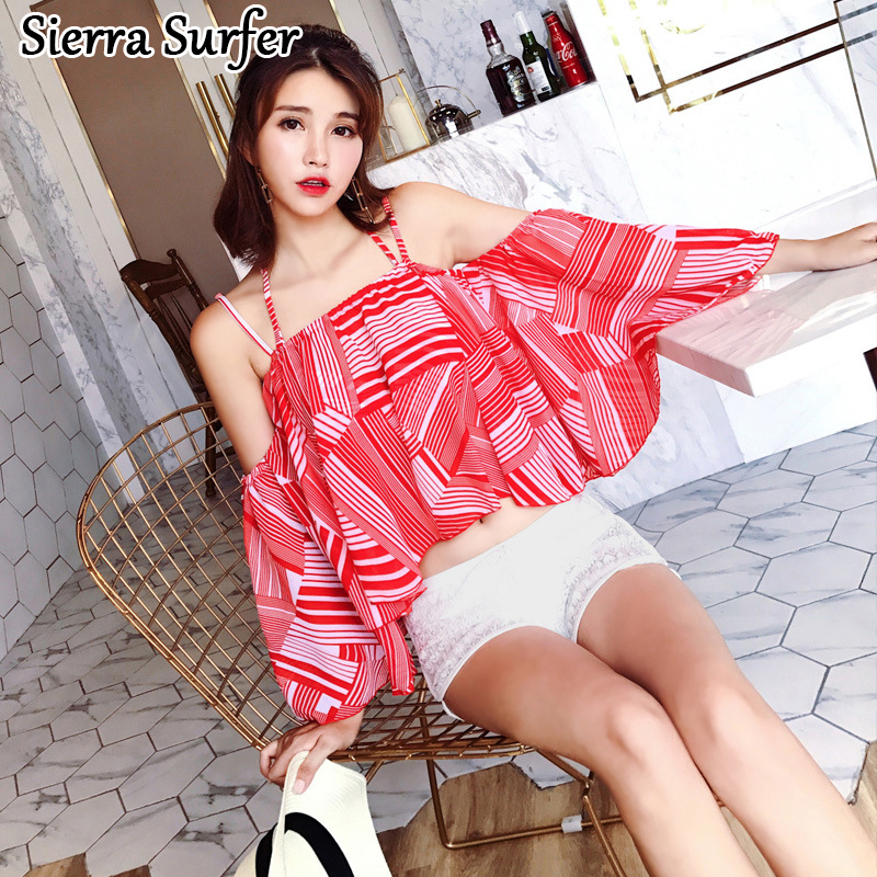 Bikini Push Up Girls Swimming Suit Woman Large Size Swimsuits Swimsuit New 2018 Bathing Split Sexy Bikinis Stamp Underwire<br>