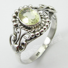 Silver Authentic Citrines Antique Look Ring Size 8.5 Jewelry Store