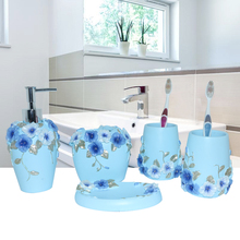 China resin bathroom set of five pieces wash set bathroom dental set kit bathroom set accessories home Decorative wedding gifts