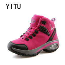YITU Outdoor Trekking Tactical Hiking Shoes For Women Outventure Mountain Climbing Sneakers Antiskid Wear-resistant Freeshipping(China)