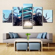 5 Pieces Monster Trucks Movies Posters Painting Canvas Wall Art Picture Home Decoration Living Room Canvas Print Modern Painting