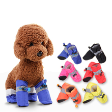Pet Dog Shoes Winter 4pcs Warm Dog's Boots Cotton Waterproof Anti Slip Shoes for Pet Product ChiHuaHua Shoes Durable Hot Sale(China)
