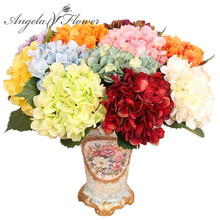 Free Shipping 11pcs 45cm Artificial Flowers Hydrangea flowers 7 colors Home decorations for wedding party photography(China)