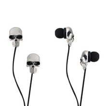 Cool Skull Heads 3.5mm Port Earphones Earbuds Headset For MP3 for iPhone For iPad Unique Design 3.5mm In ear earphone(China)