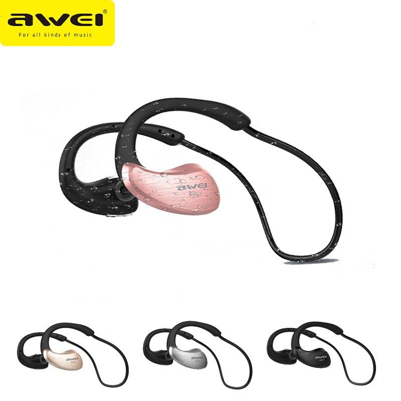 New Awei A885BL Waterproof IPX4 Wireless Bluetooth Earphones Stereo Super Bass Headphones Sports Running Headset Support NFC<br><br>Aliexpress