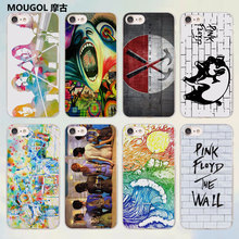 MOUGOL rock music Pink Floyd groups the wall design transparent clear Cases Cover for Apple iPhone 6 6s Plus 7 7Plus SE 5 5s 4s(China)