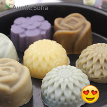 Handmade Soap Herbal Whitening Cleaning Soap Cold Processed Soap Moisturizing Natural Flower Shaped Lavender Facial Cleanser