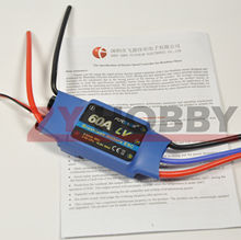 FlyColor 60A 2-4S Brushless Motor ESC Electric Speed Controller For RC Airplane Helicopter(China)