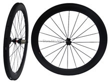 WS-CW016   :  25mm width - UD Carbon Matt Cycling Road Bike Clincher Wheelset 60mm 700C Bicycle Wheel Rim Basalt Brake Side