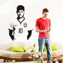 Art design cheap home decoration vinyl Neymar da Silva soccer wall sticker removable house decor famous football player decal(China)